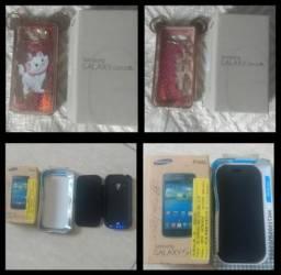 Caixas e capas de Samsung S3 mini e Gran Prime ac trokas