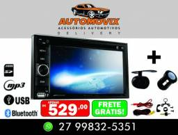 "Dvd Multimídia Evolve Light 2 Din Lcd 6,2"" Bluetooth Mp3 + Câmera de Ré"