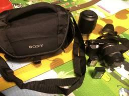 Câmera Fotográfica Sony Nex F3 - kit completo