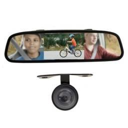 Kit Câmera de Ré + Retrovisor interno LCD