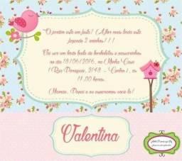 Convites personalizados infantil