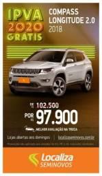 JEEP COMPASS 2018/2018 2.0 16V FLEX LONGITUDE AUTOMÁTICO - 2018