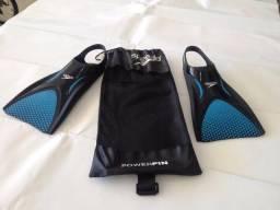 Nadadeira Speedo Power Fin, Tamanho G, semi nova (menos de duas semanas de uso)