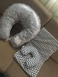 Almofada de amamentar e colchão para carrinho de bebê