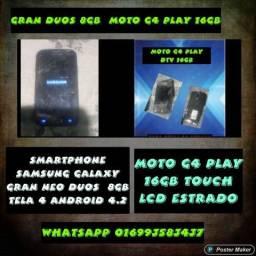 2 celulares gran duos neo e moto G6 play