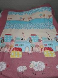Colcha infantil + capa travesseiro / cobreleito