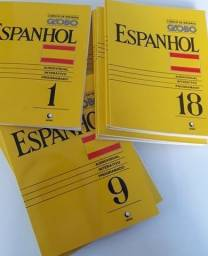 Curso de Espanhol - Editora Globo - 18 Livros e K7 - Completo!