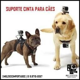 Cinta para cães com Suporte para GoPro e Similares
