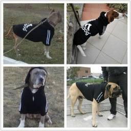 Roupa Pet Cachorro Adidog Vermelha Tam G