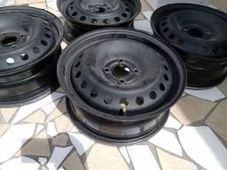 Kit rodas de ferro aro 15