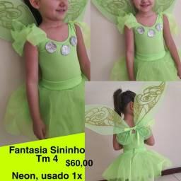 Fantasia Infantil - Sininho e bailarina Azul