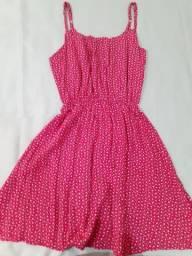 Vestido rosa florido tamanho P