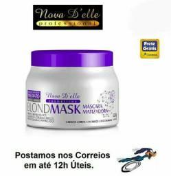 Matizador Blond Mask Violeta Desamarelador 500g Nova Delle