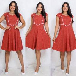 Vestido Feminino Midi Godê Moda Evangélica