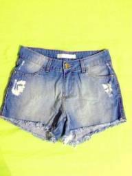 Short Jeans Feminino Semi-novo, Tam. 36
