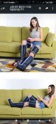 Massageador pneumático com botas de compreensão