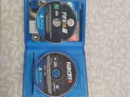 Jogo PS4, FIFA 2018,e um FarCry 4