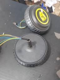 Motor roda hoverboard led nova par