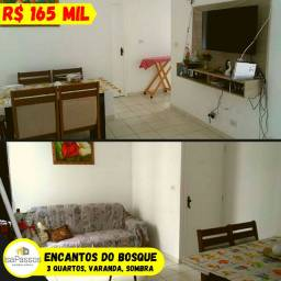 VENDO Apartamento no Condomínio ENCANTOS DO BOSQUE