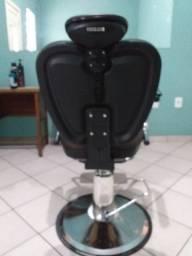 Cadeira hidráulica reclinável para barbeiro