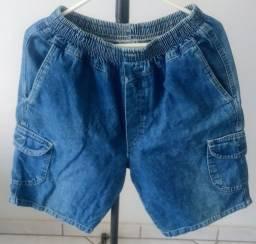 Bermuda Jeans Infantil (Tamanho G)