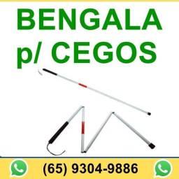 Bastão Bengala Cegos Deficiente Visual Dobrável Alumínio