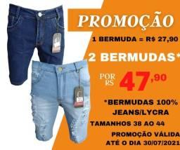 Bermudas masculina 100%Jeans super promoção kit com 2 peças!!