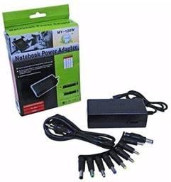 Fonte Universal Notebook Laptop Carregador 120W 12-24v 9 Conectores