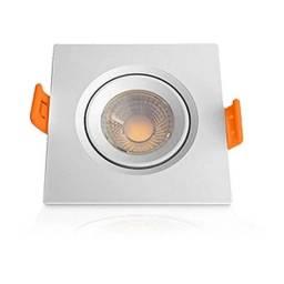 Mini Spot Led Redondo ou Quadrado de Embutir Direcionável 3w Branco Frio Bivolt