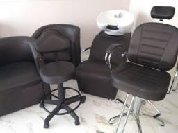 1 Lavatório+1 cadeira reclinável +1 mocho +2 poltronas