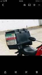 Vendo baú moto top novo plastico