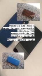 Vendo A01 core apenas 7mes de uso carregador original