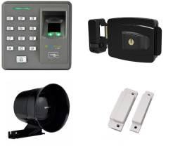 Kit Controle de acesso biométrico, senhas, tags e cartão