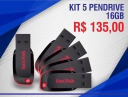 Kit 5 Pendrive 16gb Sandisk