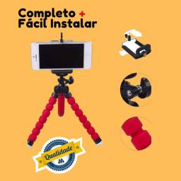 Mini Tripé De Mesa Kit Youtubers