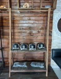 Vendo cabideiro arara de madeira rústico closet