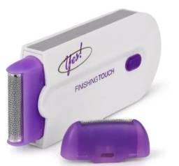 Depilador/Barbeador Facial e Corporal Recarregável via USB Luz Azul (A104)