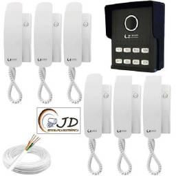 interfones porteiro eletronico video porteiro + fiacao + Instalação e configuração