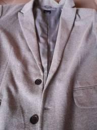 Blaser, Zara,G, cor cinza, seminovo.