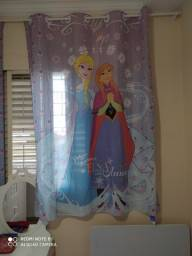Colcha solteiro e cortina Fronzen