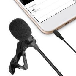 Microfone Mini de Lapela Portátil, Com Clip-On de 3.5mm Para Celular de Alta Qualidade