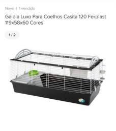 Gaiola Luxo para Coelhos Casita 120 Ferplast 119x58x60