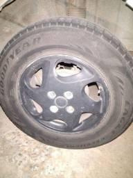 Troco roda liga leve 14 em roda de ferro