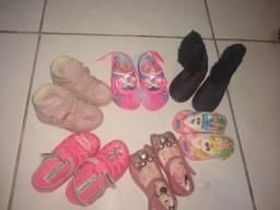 Lote sandálias infantis menina