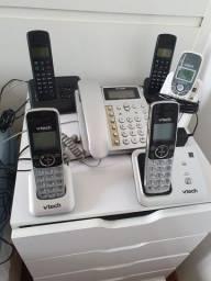 Kit telefonia completa 5 aparelhos