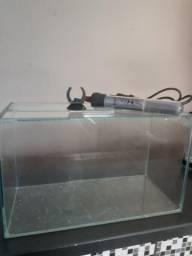 Aquário para peixe, com aquecedor