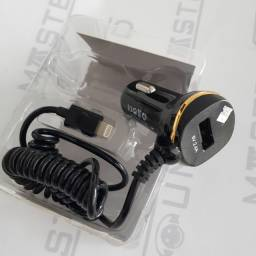 Título do anúncio: Kit carregador veícular. C/ uma entrada usb, Cabo fixo, com entrada lightning.  Novo.