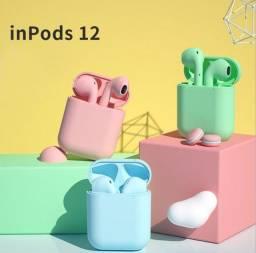 Fone de ouvido colorido bluetooth inpods-12