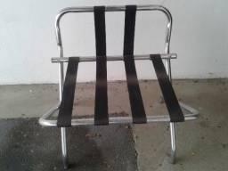 Jogo de 7 cadeiras cromadas para lazer churrasco piscina jardim