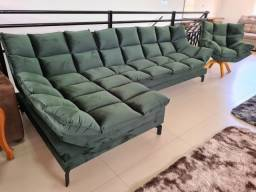 Sofá Com Chaise Luxor